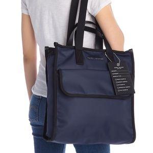 Marc Jacobs Retake Indigo Blue Nylon Tote Bag